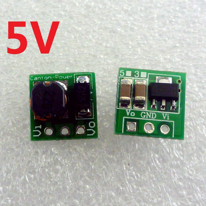 Step-Up 0,9-5VDC to 5V DC